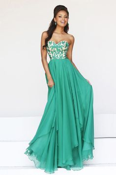 Delicate Floor Length Chiffon Prom Dresses Seetheart Princess With Embroidery