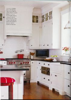 red accented kitchen!