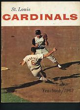 1963 St. Louis Cardinals Yearbook Stan Musial Bob Gibson
