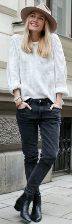 White Chunky Sweater by LadyAddict