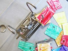 Motorikspielzeug, Spielzeug, Selbermachen, DIY, Idee, Aktenordner, Upcycling, Recycling, Basteln, Kind