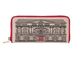 Portafoglio a doppio scomparto Love Moschino rosso - 20x10x3 cm