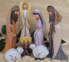 Wooden Hand Carved Nativity (Starter set)
