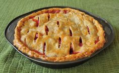 Strawberry & Rhubarb Pie from No Sugar Added- Maybe I could just eat the middle part?