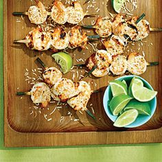 Fast & Fresh kebabs | Coconut Lime Shrimp Skewers  | Sunset.com