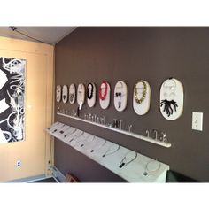 Jewelry Display - Inside the gallery. 144 N prince st Lancaster,pa #jewelrydisplay #DIY #inspiration
