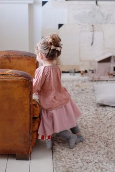 I absolutely LOVE when little baby girls dress like cute grandmas. They make it look so adorable. I only have a few pieces thats like that for my girls, but I wish I could just make them wear soft, billowy, vintage printed clothes all the time.