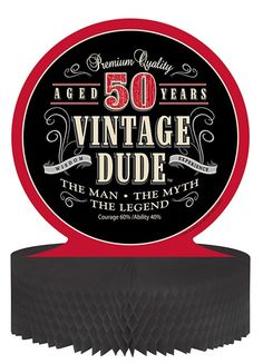 Vintage Dude Party Supplies | Men's Birthday Decorations