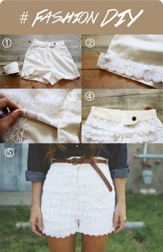 Always wanted shorts like this, but could never find them! Now you don't need to you can make your own customized pair....