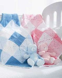 Free crochet patterns.  The Double Diamond Baby Blanket is a quick crochet pattern to work up using Bernat Softee Baby yarn. It's a classic pattern that will surely be cherished for years to come.