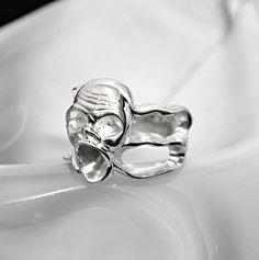 """Silberring """"Scream"""" - www.wolfsschmiede.com Scream, Wolf, Jewellery, Rings, Silver, Jewelery, Money, Jewlery, Ring"""