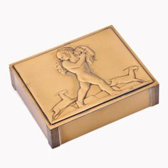 1434: ROCKWELL KENT / CHASE Copper and brass hinged cig : Lot 1434