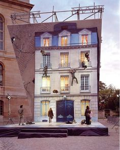 Leandro Erlich, Bâtiment, Installation, Paris, 2004