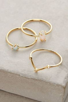 Anthropologie Opalescent Stacking Rings #jewelry #rings #fashion
