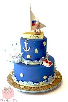 Bolo decorados de marinheiro - http://www.boloaniversario.com/bolo-decorados-de-marinheiro/