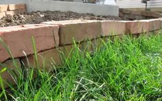 how to make a dry stack brick garden border