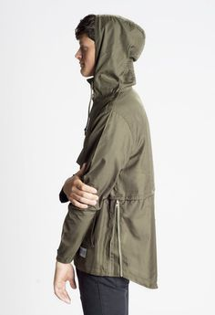 Profound Aesthetic Torpedo Pocket Anorak Pullover Windbreaker Jacket in Olive http://profoundco.com/collections/jackets/products/torpedo-anorak-pullover-windbreaker-jacket-olive