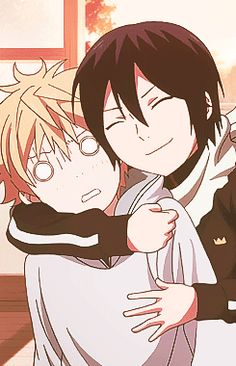 Noragami - When I don't want to be hugged by my friend -v-