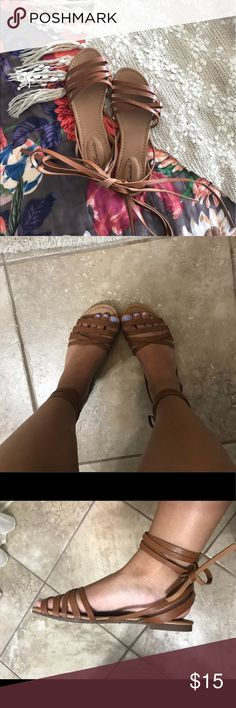 Selling this Brand New Breckelle's Ankle Wrap Sandals on Poshmark! My username is: ericahollaway. #shopmycloset #poshmark #fashion #shopping #style #forsale #Breckelles #Shoes
