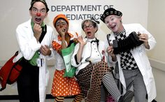 "Bronx-Lebanon Hospital Center held a celebratory event on Thursday, July 19, to mark the establishment of a ""resident team"" of clown doctors...  The Big Apple Circus's signature community outreach program, brings specially trained clown ""doctors"" from the circus to hospitalized children at 18 leading pediatric facilities across the United States. http://www.bigapplecircus.org/clown-care"