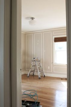 The Grit and Polish - Ravenna Master Panel Moulding INstalled. Panel Moulding, Wall Molding, Diy Molding, Picture Frame Molding, Picture Frames, Bedroom Pictures, Home Upgrades, Wainscoting, Bedroom Wall