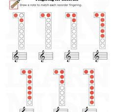 Fingering for Recorder ( Recorder Notes, Recorder Music, Music Ed, Good Music, Teaching Music, Teaching Resources, Recorder Fingering Chart, Music Worksheets, Elementary Music