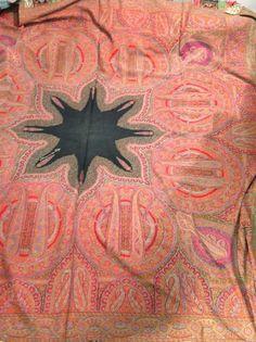 Châle, Cachemire, Inde, vers 1849. Très fin tissage espoliné en 10 couleurs b0857d42900