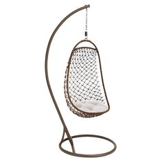 A relaxing addition to your sunroom or patio, this distinctive porch swing features a suspended chair design for distinctive style.I WANT THIS CHAIR FOR MY PATIO!!!!