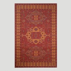 Red Kelim Indoor-Outdoor Rug