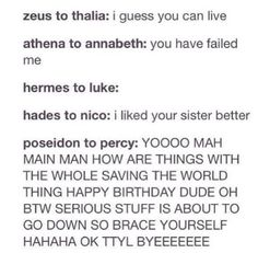 Demigods relationship with parents