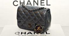 """กระเป๋า Chanel Mini 7""""Sq Pearly Charcoal Caviar ของใหม่พร้อมส่ง‼️ - Iris Shop"""