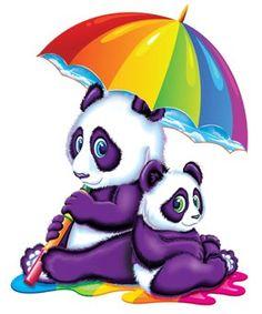 rainy rainbow pandas