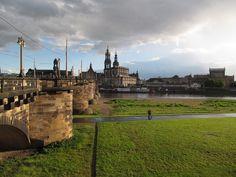 A luminosidade de Dresden após uma chuva torrencial - Alemanha
