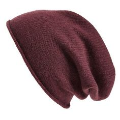 Halogen Slouchy Cashmere Beanie ($44) ❤ liked on Polyvore featuring accessories, hats, burgundy stem, burgundy hat, burgundy beanie, slouch hat, beanie hats et saggy beanie