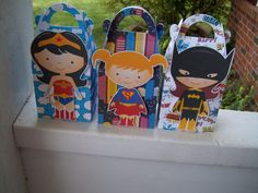 For the Girls Superhero Gable Boxes Set of 12 by on Etsy Superhero Party Bags, Superhero Birthday Party, 10th Birthday Parties, 4th Birthday, Wonder Woman Party, Gable Boxes, Bday Girl, Printable Birthday Invitations, Party Favor Bags