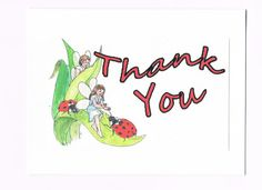 Ladybugs and Fairies THANK YOU card Free by 12StepUnityGal on Etsy, $5.00