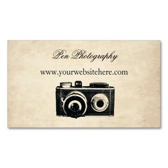 Vintage Camera Double-Sided Standard Business Cards (Pack Of 100). Make your own business card with this great design. All you need is to add your info to this template. Click the image to try it out!