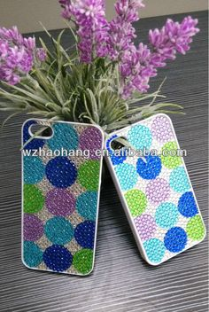 fashion mobile rhinestone phone case  1.material:plastic,crystal sticker  2.unique design  3.competitive price