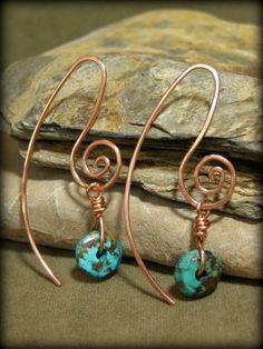 Turquoise Earrings by cecile