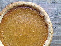 The Simplest Pumpkin Pie-made with pumpkin butter!