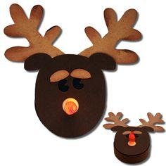 3d reindeer tealight holder