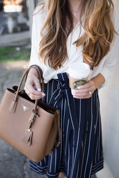 Striped Midi Skirt | The Teacher Diva