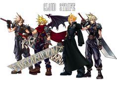 Cloud Strife - FF VII / Kingdom Hearts, FF Advent Children / KH2, FF Dissidia. Guhh I love Cloud