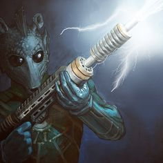 Greedo. . . Haha I saw and at first glance I thought it was Madame Vastra from Doctor Who!!