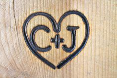Branding Iron, Custom Wedding Heart and Initials Brand. $40.00, via Etsy.