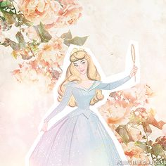 I'm not a huge fan of the earlier Princesses, but Aurora looks so vintage and stunning here!