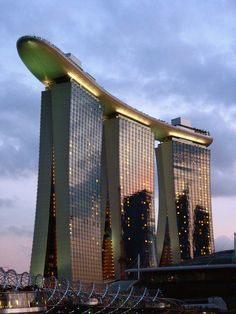 Singapore…Wow! I mean, how in the heck can we build things so amazing such as this building??!! Amazing!