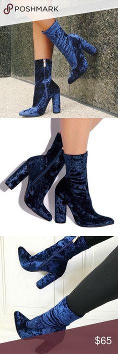 Spotted while shopping on Poshmark: Blue Velvet Booties! #poshmark #fashion #shopping #style #Shoes