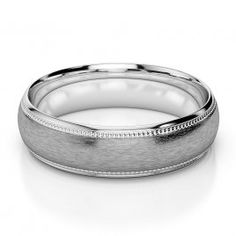 White Gold / Platinum Mens Plain Band 5 mm AGDR-1232