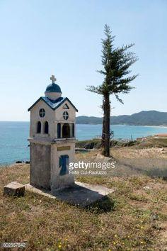 Roadside memorial and beach of Sarti coast, in Eastern. Roadside memorial and beach of Sarti coast, in… Macedonia, Gazebo, Greece, Coast, Outdoor Structures, Beach, Greece Country, Kiosk, The Beach